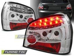 LED TAIL LIGHTS CHROME fits AUDI A3 08.96-08.00