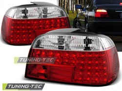 LED TAIL LIGHTS RED WHITE fits BMW E38 06.94-07.01