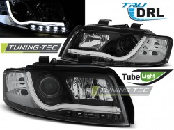 AUDI A4 10.00-10.04 TUBE LIGHTS BLACK TRU DRL