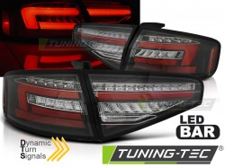 LED BAR TAIL LIGHTS BLACK SEQ fits AUDI A4 B8 12-15 SEDAN OEM BULB